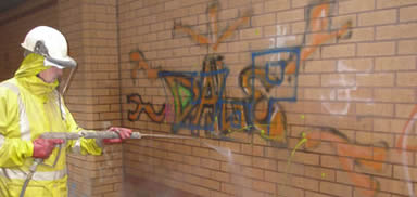 graffiti removal in Southport